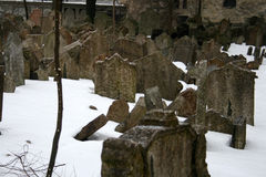 Cemetery. Beautiful and historic cemntarz in Prague - Czech Republic stock photo