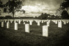 Cemetery In Black And White Stock Photos