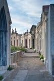 Cemetery in Bonifacio. The tranquil and beautiful cemetery of Bonifacio in Corsica Stock Photography
