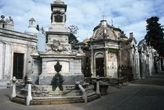 Cemetery in Buenos Aires,Argentina. Tombs on cemetery in Buenos Aires,Argentina Stock Photos