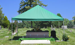 Cemetery Burial Funeral Casket Royalty Free Stock Photos