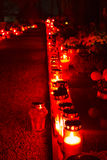 Cemetery candles royalty free stock image