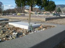 Cemetery in Carson City. Grave in Carson City, Nevada Royalty Free Stock Photography