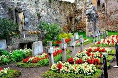 Cemetery in Carta medieval monastery near Sibiu, Transilvania Stock Photo
