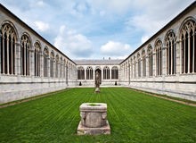 Cemetery at Cathedral Square in Pisa, Italy Stock Photos