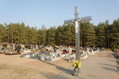 Polish cemetery Stock Image