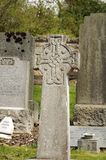 Cemetery Celtic cross. Celtic cross on a cemetery in Roslin, Scotland Royalty Free Stock Photography