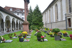 Cemetery in the center of Lucerne Stock Images