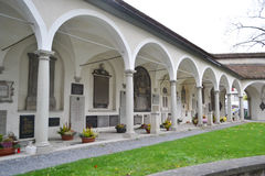 Cemetery in the center of Lucerne Royalty Free Stock Photography