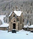 Cemetery chapel. stock photo
