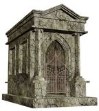 Cemetery chapel. 3D render of an old cemetery chapel Stock Photo