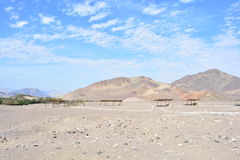 Cemetery of Chauchilla, in the desert of Nazca, Peru Royalty Free Stock Photos
