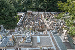 Cemetery in Chion-in Shrine, Temple in Higashiyama-ku, Kyoto, Japan. Headquarters of the Jodo-shu Stock Image
