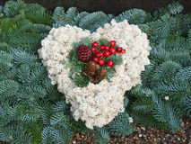Cemetery Christmas grave garland wreath Royalty Free Stock Image