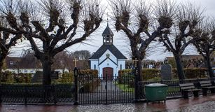 Cemetery and church in Germany Royalty Free Stock Photos