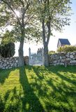 Cemetery of the church Ruts Kirke on Bornholm Royalty Free Stock Photography