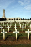 Cemetery and church at Verdun Royalty Free Stock Photography