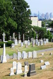 The Cemetery and the City Royalty Free Stock Images