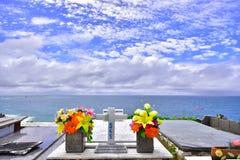 Cemetery, city Saquarema, Rio de janeiro, Brazil royalty free stock photos