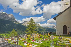 Cemetery in In Colle Santa Lucia, Dolomites Royalty Free Stock Image