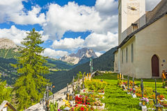 Cemetery in In Colle Santa Lucia, Dolomites Royalty Free Stock Photos