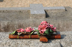 The cemetery of Condecourt  in Val d'Oise Royalty Free Stock Photos