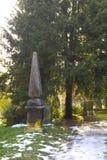 Cemetery in croatia Stock Photo