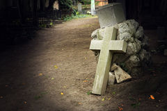 Cemetery cross Stock Photos