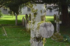 Cemetery. Cross in a small church yard Stock Photography