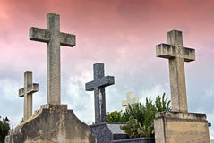 Cemetery Crosses Stock Image