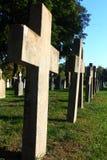 Cemetery Crosses stock photography
