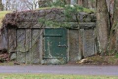 Cemetery crypt Stock Photo