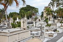 Cemetery in Cuba Royalty Free Stock Images