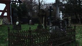 Cemetery in Dark Weather stock footage