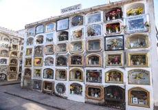 Cemetery de Almudena/Cusco/Perú/07142017 imagen de archivo libre de regalías