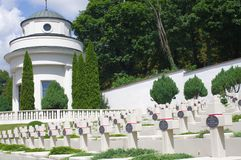 Cemetery of the Defenders of Lviv Stock Photography
