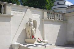 American Polish monument in Lviv in Ukraine Royalty Free Stock Image