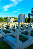 Cemetery of the Defenders of Lwow on Lychakiv Cemetery in Lviv Stock Photos