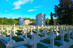 Cemetery of the Defenders of Lwow on Lychakiv Cemetery in Lviv Royalty Free Stock Photography