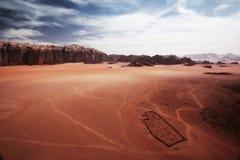 Cemetery in desert Stock Images