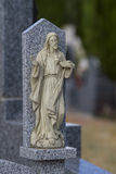 Cemetery detail with stone sculpture Stock Photo