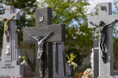 Cemetery detail with stone sculpture Royalty Free Stock Image