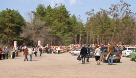 At the cemetery on Easter in Russia. At the cemetery on Easter in Voronezh in Russia on 15.04.2012 Stock Images