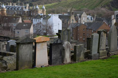 Cemetery in Edinburgh Stock Images