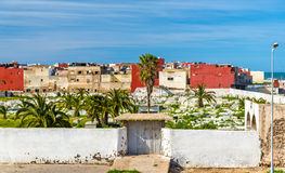 Cemetery in El Jadida town in Morocco. North Africa Royalty Free Stock Photos