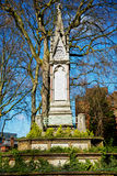 in cemetery     england europe old construction and    history Stock Image