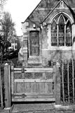in cemetery  england    europe old construction and    history Stock Images