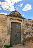 Cemetery Entrance at Bocairent Medieval Town Royalty Free Stock Image