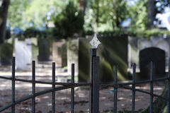 Cemetery entrance Royalty Free Stock Photography