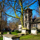 in cemetery   europe old construction and    history Royalty Free Stock Photos